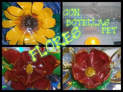Flores Nochebuena 2 (Termoformado con una vela) Botellas de plastico