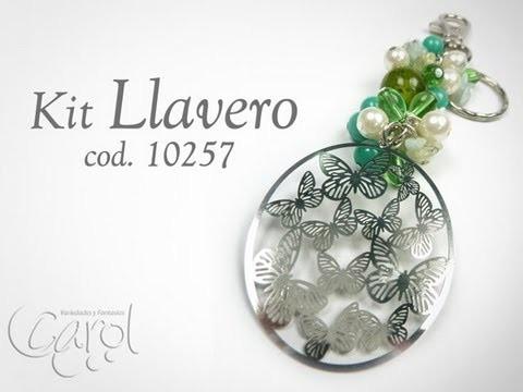 KIT 10257 Kit Llavero filigrana mariposa