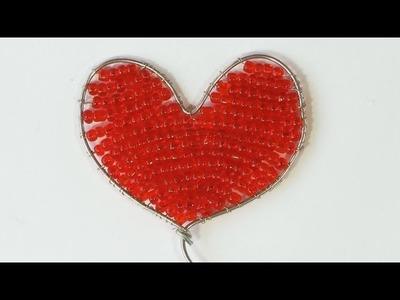 Manualidad para San Valentin: Corazon de abalorios - Manualidades para todos