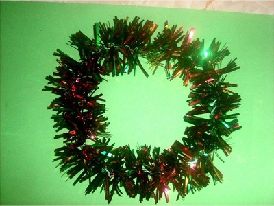 Manualidadades Navideñas guirnalda brillante tricolor