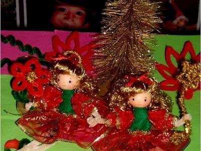 Manualidades  Muñecas navideñas