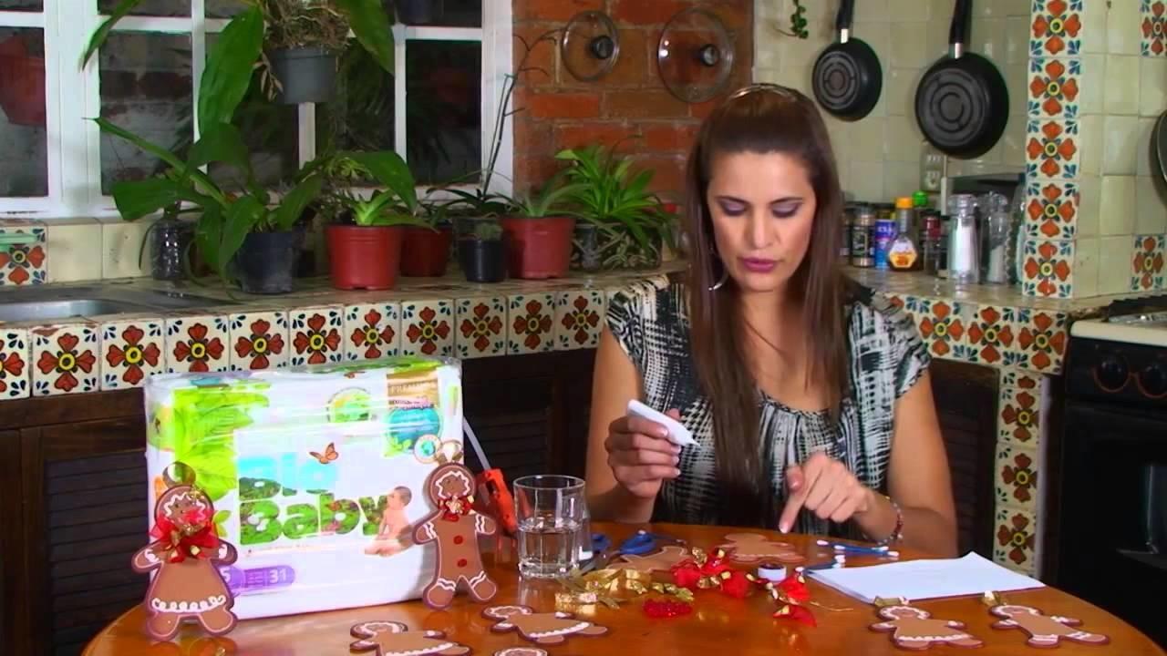 Muñeco de jengibre utilizando cartón