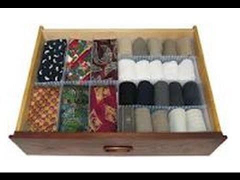 Organizar los calcetines, medias etc.con tubos de cartón. DIY dresser organizer. EcoDaisy.