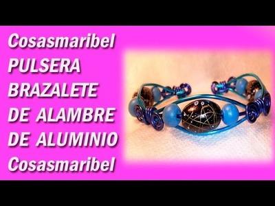 Pulsera-brazalete de alambre de aluminio