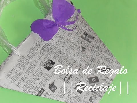 RECICLAJE || Bolsa de Regalo