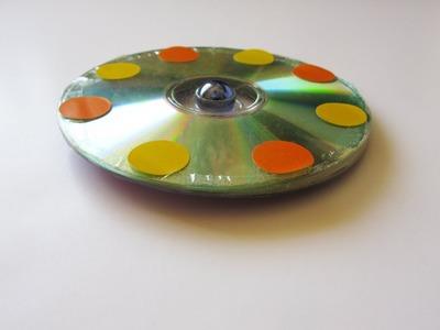 Reciclaje de 2 cd viejos para hacer un Trompo - Manualidades para todos