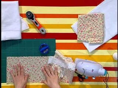 Rincón de Arte  --  Apliques en sábanas para bebé