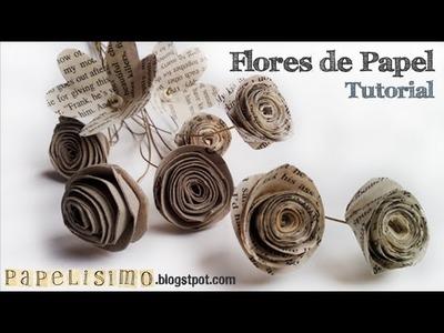 Tutorial Flores de Papel. Manualidades