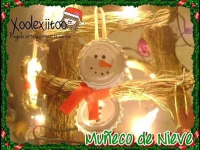 @xoOlexiitOo ☃DIY: ADORNO Navideño: Muñeco de Nieve Reciclado❄