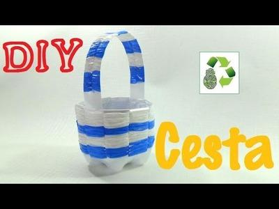 165. DIY CESTA (RECICLAJE DE BOTELLAS Y BOLSAS PLASTICAS)