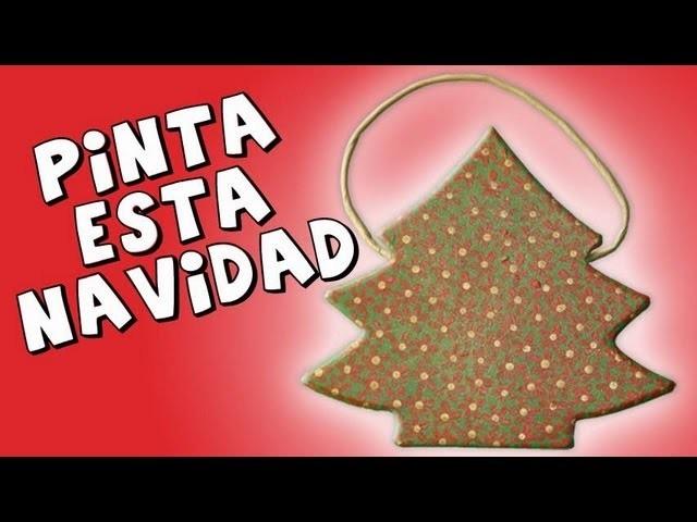 *Christmas Tree Painting* Pintar Arbol de Navidad 2014 Pintar de Navidad Pintura Facil