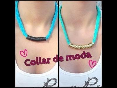 Collar trenzado de moda - DIY