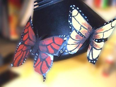 Como decorar mariposa  realizada con lata de refresco  2ª parte