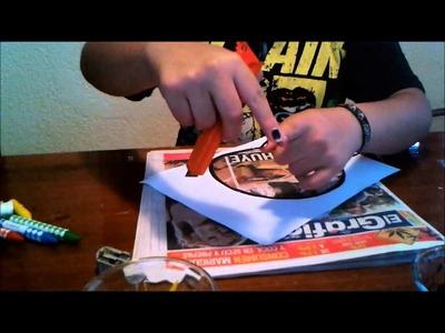 Como estampar playeras con crayolas