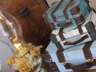 Como Hacer Maleta Vintage RECICLANDO cajas