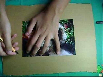 Como hacer un portarretrato de cartón