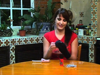 Como hacer un titere con un calcetin