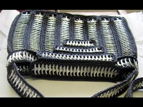 Como hacer una bolsa de anillas de lata: Bolso PracticoParte 1