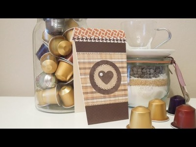 Cómo hacer una tarjeta vaso de café. Tutorial para el Día del Padre