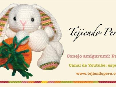 Conejo amigurumi (Parte 4: tejiendo las orejas)