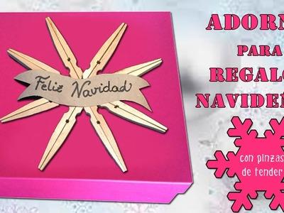 Copo o estrella de madera para adornar cajas