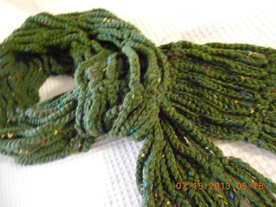 Crocher bufanda en cadenas