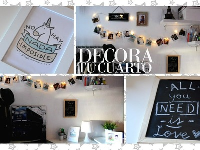 DECORA TU CUARTO (Fácil) - Room decorations for cheap | Fashupp