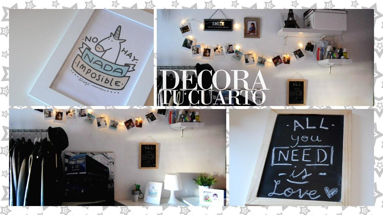 DECORA TU CUARTO (Fácil) - Room decorations for cheap | Fashupp