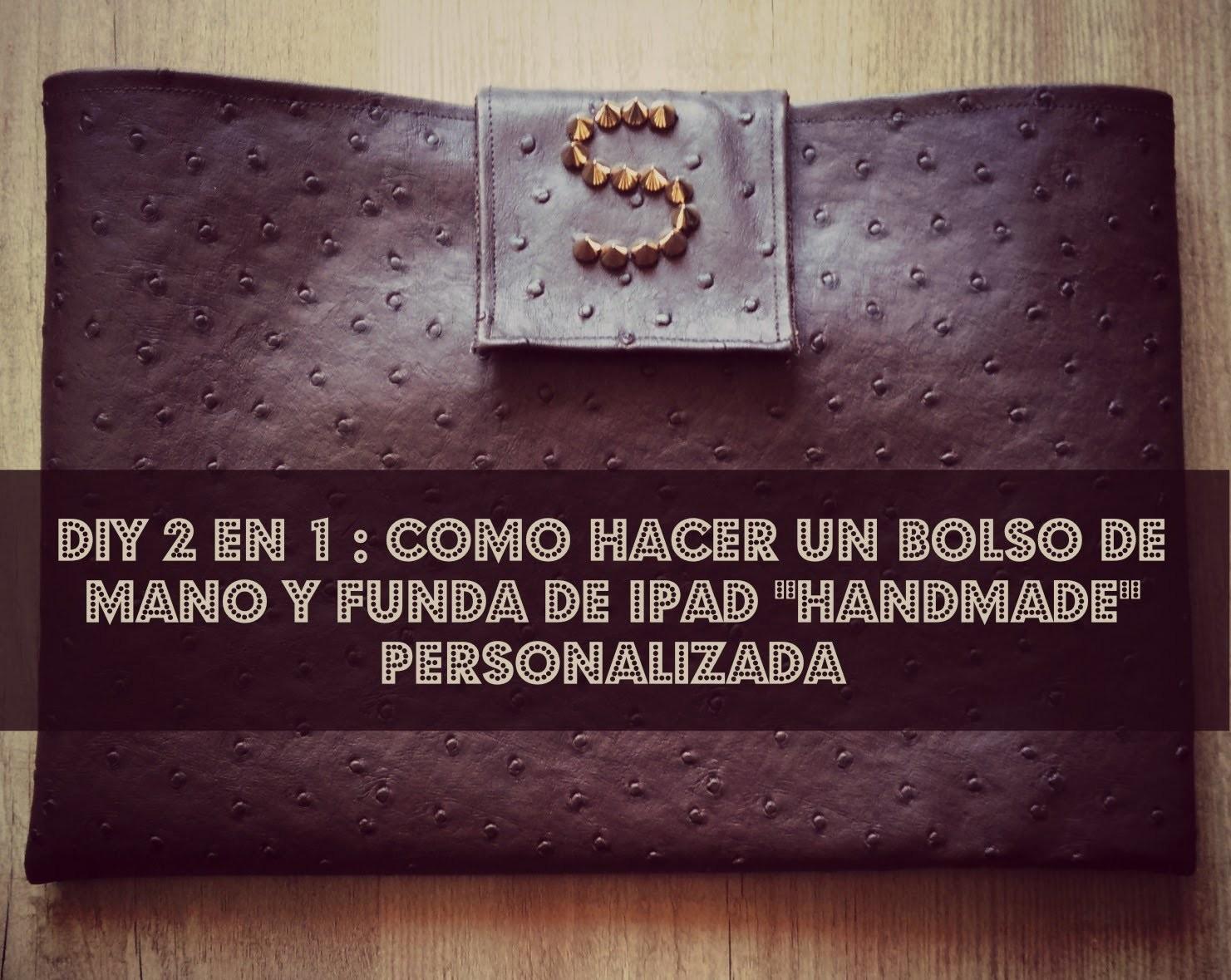 DIY 2 en 1 : Como hacer un clutch. funda de tablet personalizada
