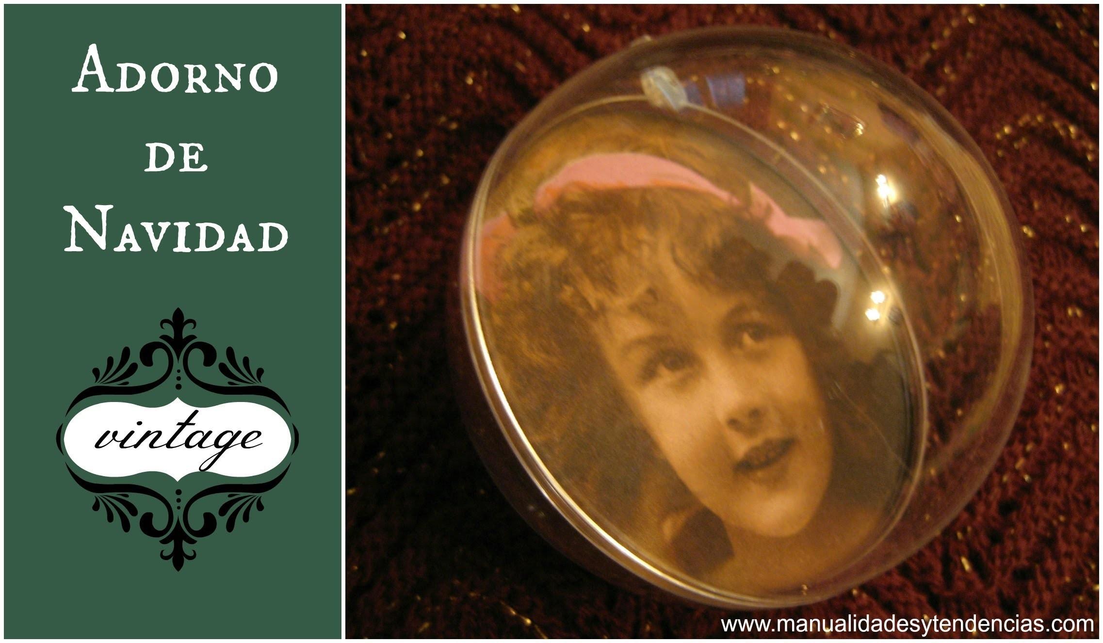 DIY: Bola de Navidad vintage. Vintage Christmas bauble