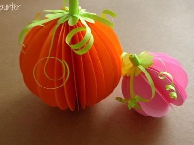 DIY - Calabazas en 3D para halloween. Decoración Facil