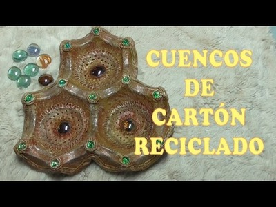 DIY CESTA CUENCO DE CARTÓN RECICLADO-RECYCLED CARDBOARD BOWL CART-