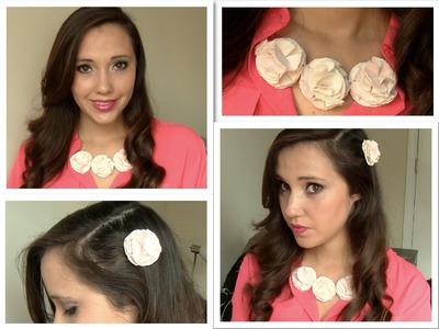 DIY: Como hacer un hermoso collar de flores!
