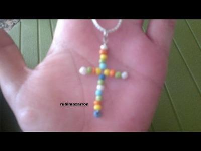 DIY:Como hacer una cruz con abalorios.