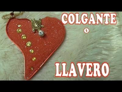DIY CORAZON DE ARENA- HEART PENDANT
