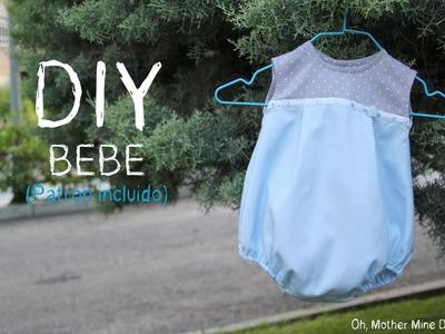 DIY Ropa Bebé: Como hacer ranita para niño (patrón incluido)