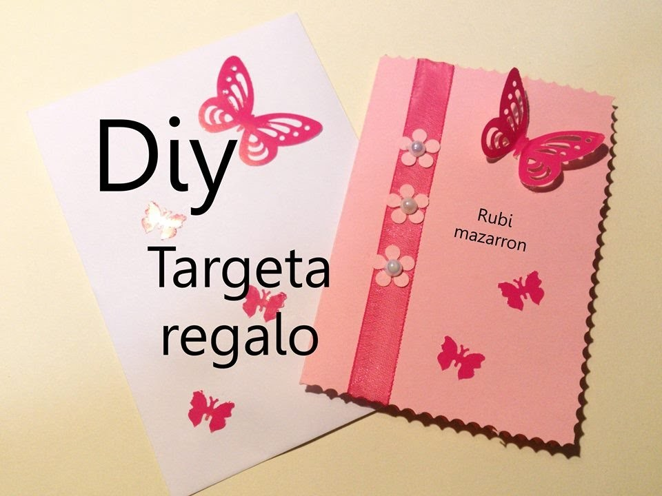 Diy. Tarjeta de felicitación rosa