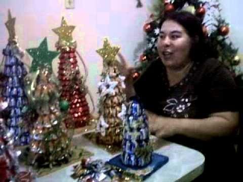 Elabora arbolitos de Navidad con caramelos.3GP