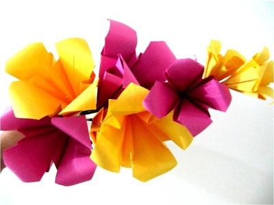 Flores hermosas de papel paso a paso