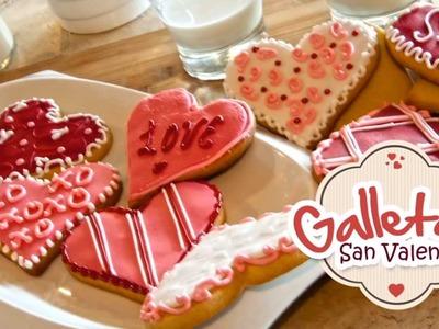 Galletas San Valentín (Cubiertas de Fondant)