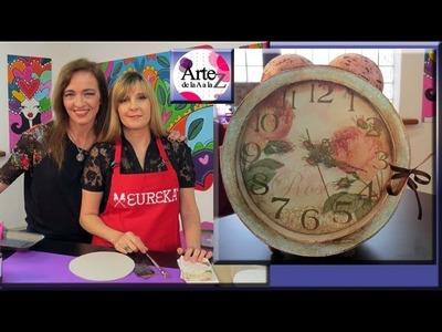 Ideas para hacer un reloj vintage con cartón