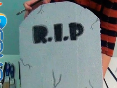 Lápida con R.I.P. para Halloween