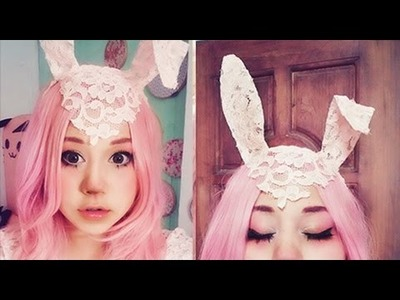 MAQUILLAJE CONEJA y OREJITAS , MIKU. bunny makeup