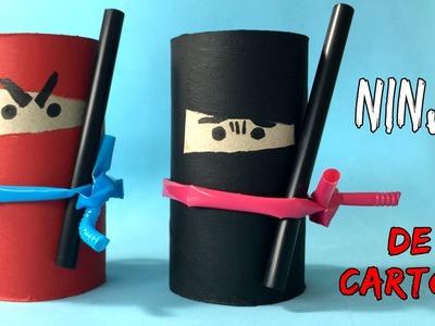Ninjas de cartón * Manualidades de RECICLAJE