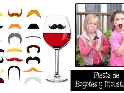 Photocall casero y Decoración para Fiestas| Fiesta de bigotes