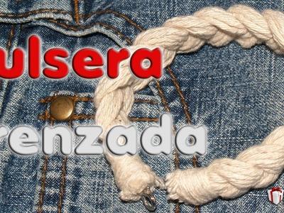 Pulsera rústica trenzada - DIY - Rustic braided bracelet