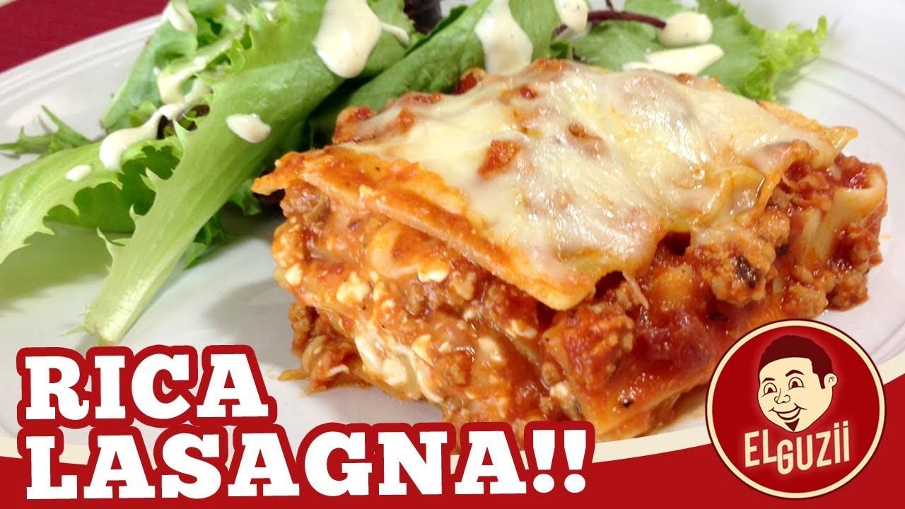 Rica Lasagna! (Lasaña) - Receta Fácil - El Guzii