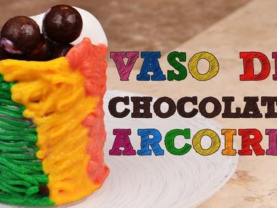 Vasos de CHOCOLATE ARCOIRIS FÁCIL | Recetas fáciles de postres | Vasos de chocolate rainbow