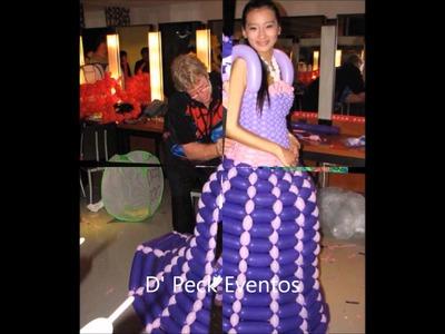 Vestidos hechos en globos - dresses made in balloons - globoflexia