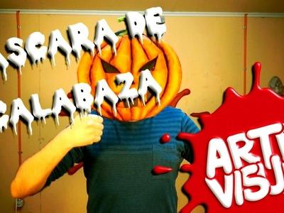 ARTE VISUAL - MÁSCARA DE CALABAZA